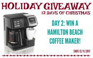 Hamilton Beach Coffee Maker Giveaway