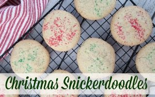Christmas Snickerdoodles + Giveaway