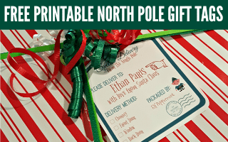 North Pole Printable Gift Tags