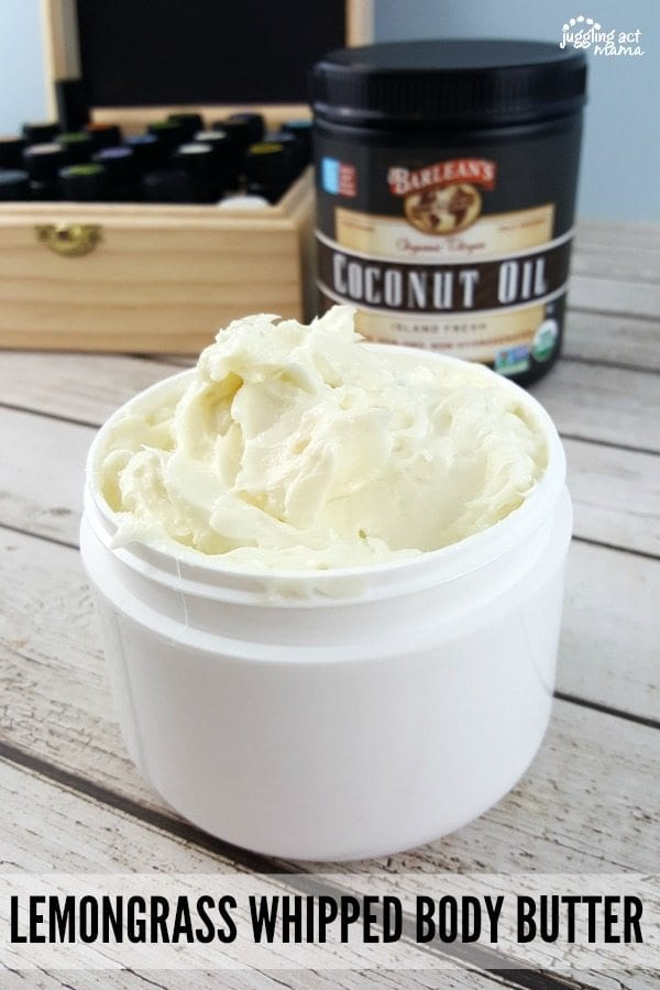Lemongrass Whipped Body Butter #DIY #Barleans #ad
