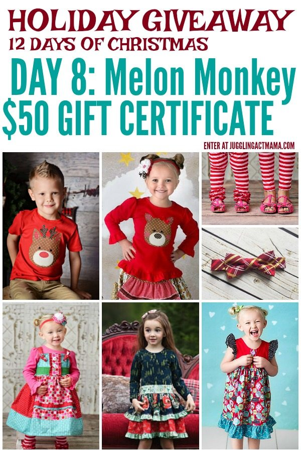 Melon Monkey Etsy Shop Holiday Giveaway, ends 12-18-2017