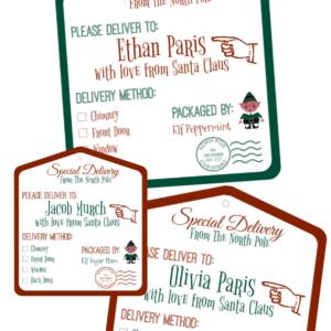 North pole gift tags free printable straight from santas workshop north pole gift tags free printable straight from santas workshop negle Choice Image