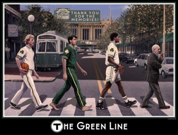 Boston Celtics Print - The Green Line