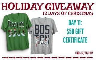 Boston Sports Lovers Gift Ideas + Giveaway