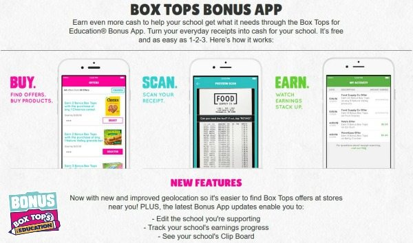 BOX TOPS BONUS APP #ad #CollectiveBias #EarnWithBoxTops