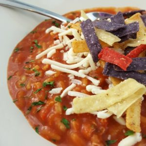 EASY CHICKEN TORTILLA SOUP - SUPER EASY WEEKNIGHT MEAL
