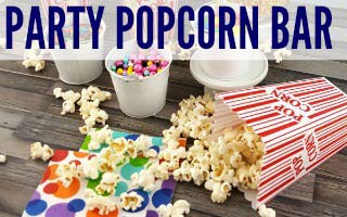Movie Night Party + Popcorn Bar