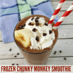 Frozen Chunky Monkey Smoothie #CalorieCountDown #IC #ad