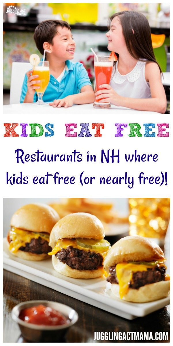 Restaurants in NH where kids eat free (or nearly free)!