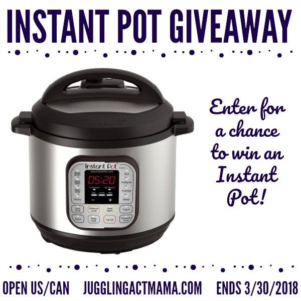 2018 Spring Instant Pot Giveaway at Juggling Act Mama