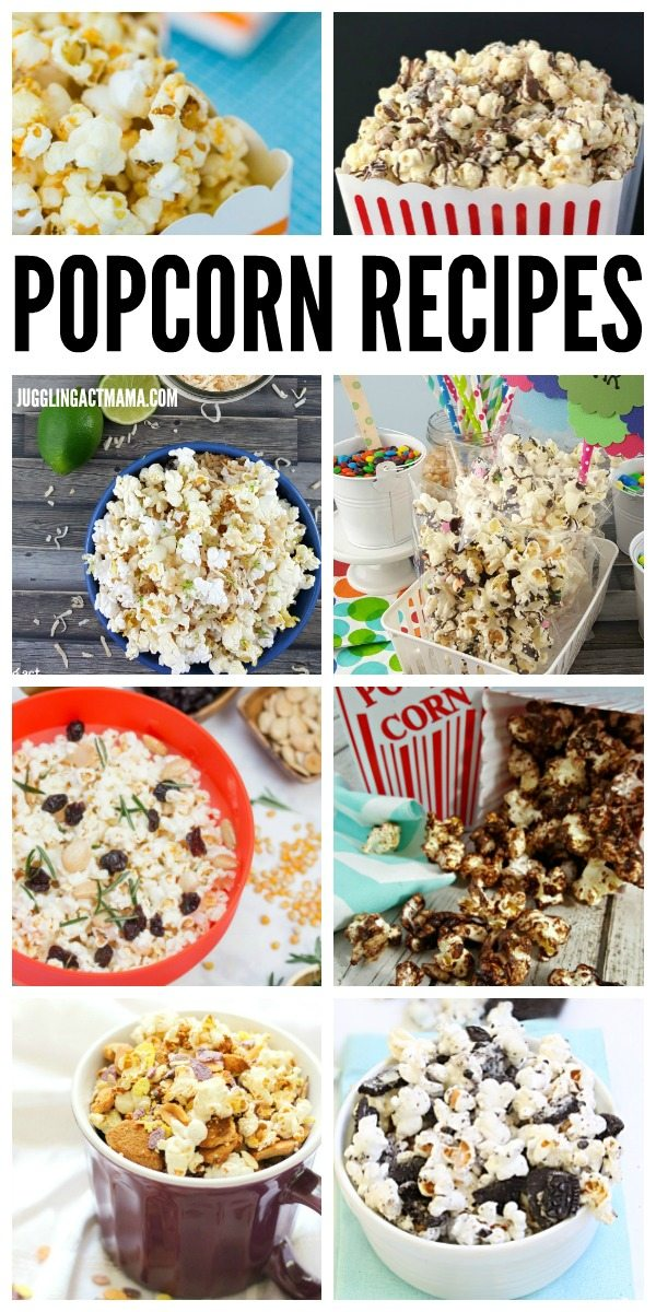 Check out our favorite Popcorn Recipes from awesome bloggers! #popcorn #partyfood
