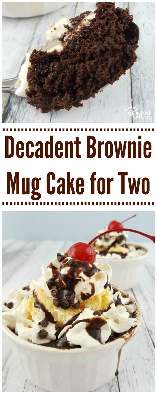 Decadent Brownie Mug Cake Sundaes for Two make a scrumptious date night at home #LoveBarleans #ad #Barleans