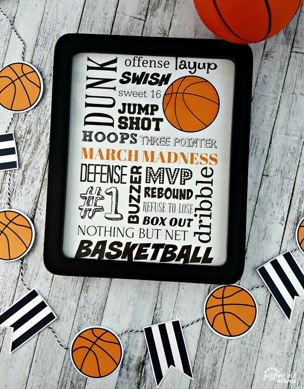 March Madness Subway Art Printable - download for free - Juggling Act Mama #MarchMadness #FreePrintable #GameDay