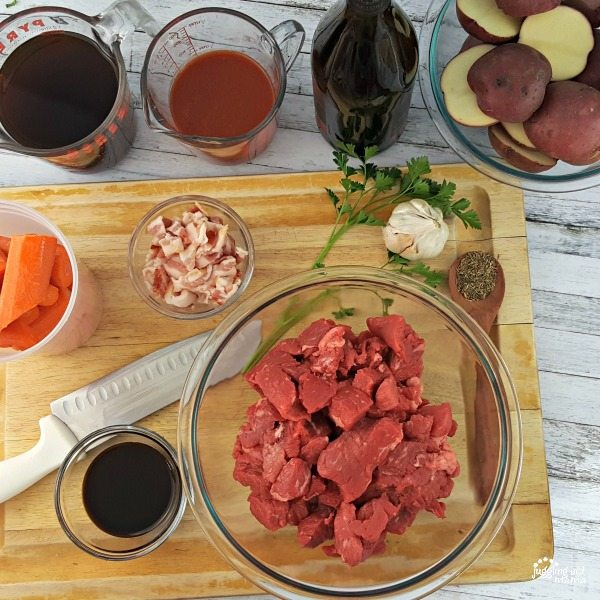 Beef Bourguignon ingredients
