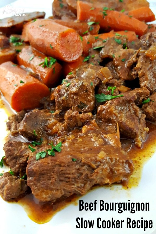 Best Ever Beef Bourguignon Slow Cooker Recipe