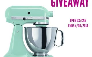 Spring KitchenAid Mixer Giveaway, Ends 4/30/18