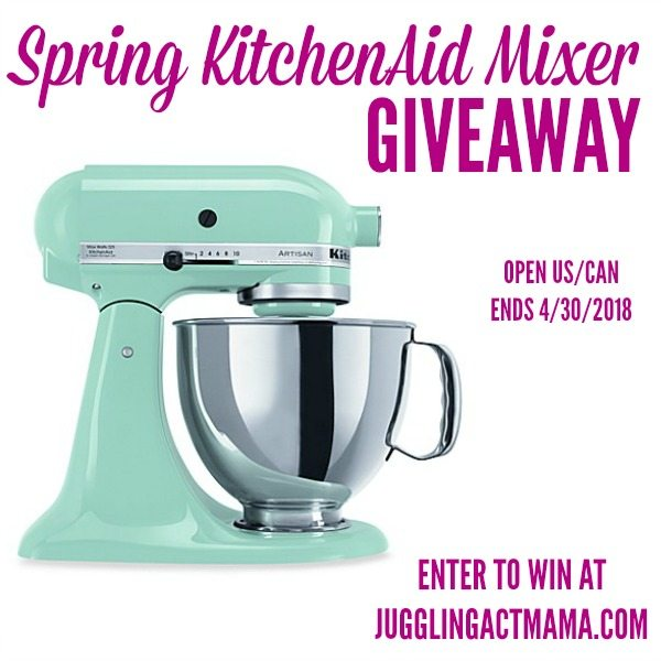 Happy Spring Everyone! Who Is Ready For A Giveaway!!! Everyone, Right? And,  Who Wants A New KitchenAid Mixer??? Do I Even Need To Ask?