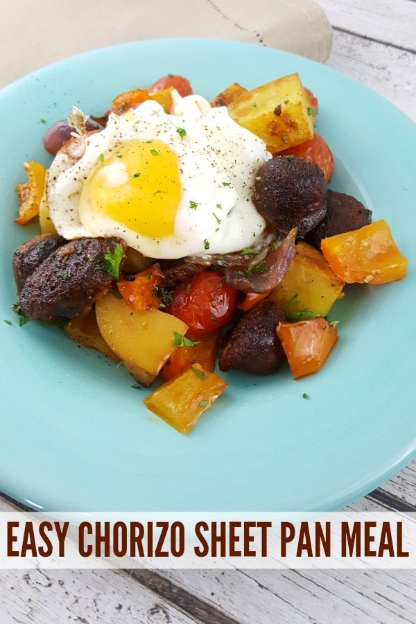 EASY SHEET PAN CHORIZO SAUSAGE BREAKFAST
