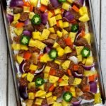 EASY SHEET PAN CHORIZO SAUSAGE DINNER