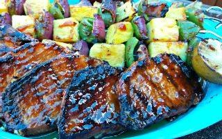 Pineapple Bourbon BBQ Grilled Boneless Pork Chops in 30 Mins