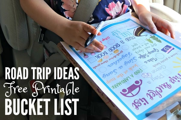 Road Trip Ideas Free Printable Bucket List