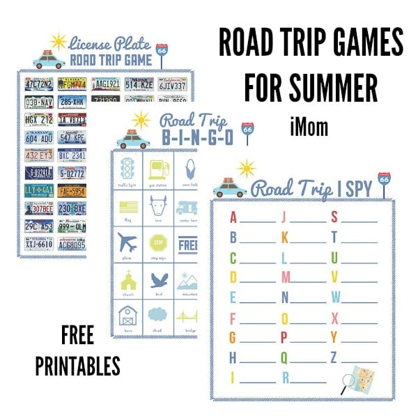 graphic about License Plate Game Printable called Street Vacation Printable Things to do for Little ones - Juggling Act Mama