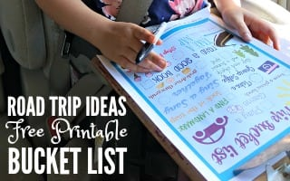 Road Trip Ideas Printable Bucket List