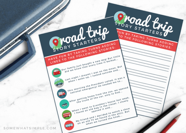 Road Trip Story Starters Free Printables