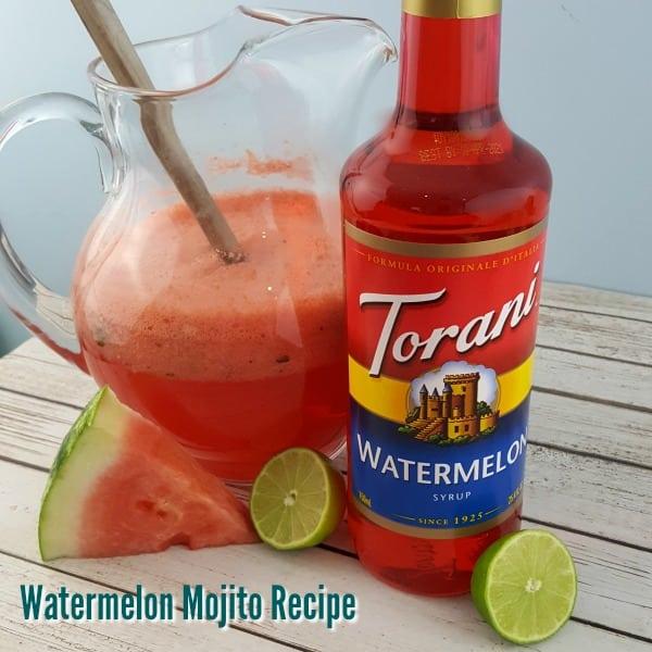 Delicious Watermelon Mojito Recipe - #ad #ToraniSummerGiveaway #Torani