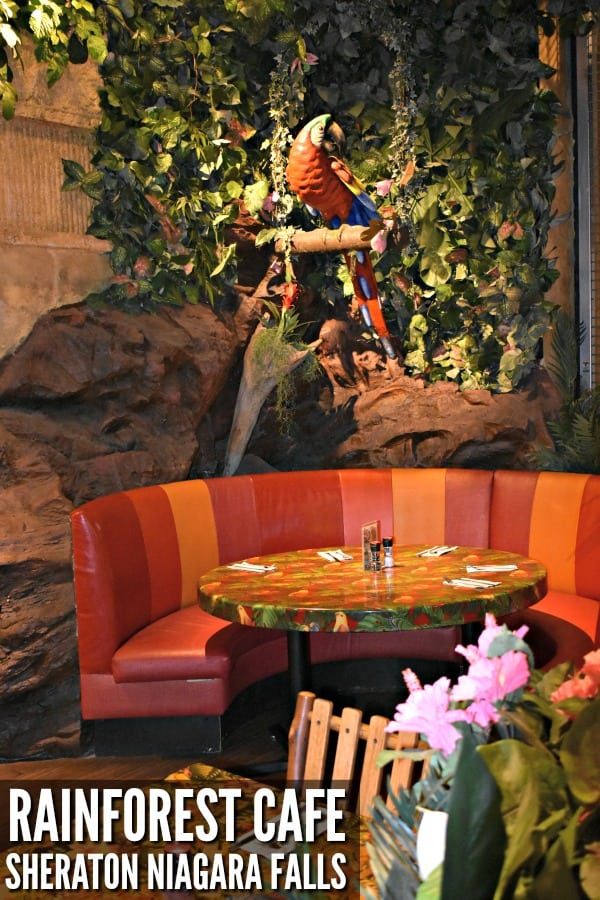 Visit the Rainforest Cafe #ad #SheratonNiagaraFalls