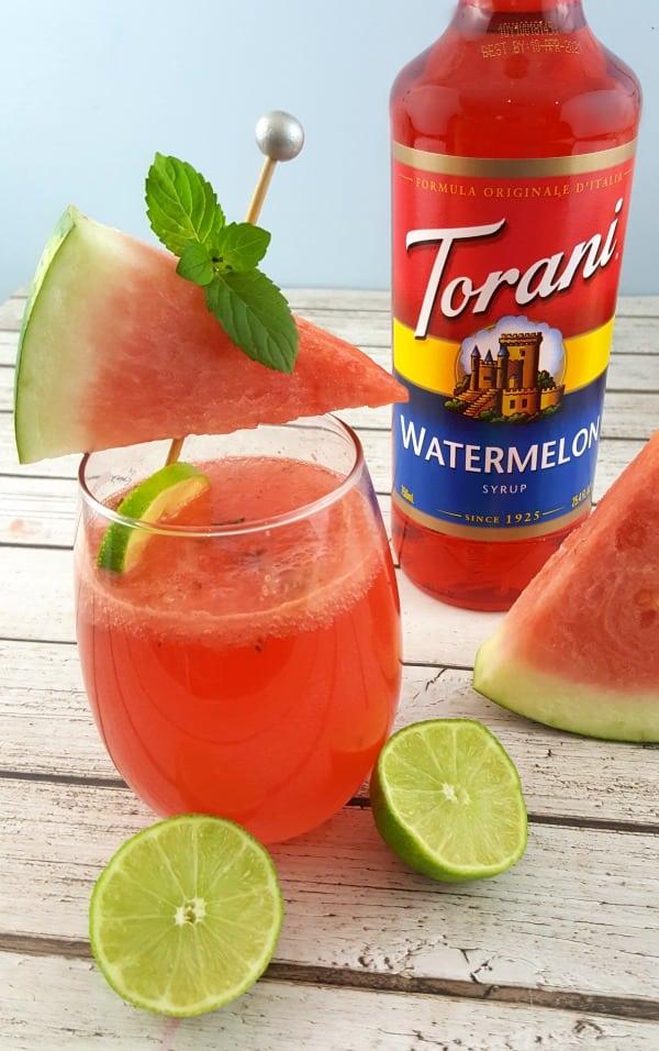 Watermelon Mojito Recipe - #ad #ToraniSummerGiveaway #Torani