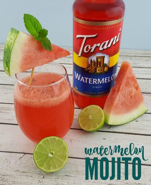 Watermelon Mojito with Torani Watermelon Syrup #ad #Torani