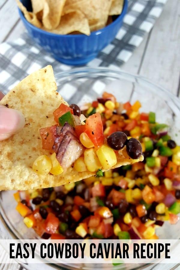 Delicious and easy 15 minute cowboy caviar recipe