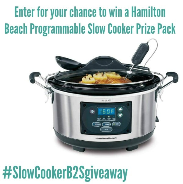 Enter to win a Hamilton Beach Programmable Slow Cooker #ad#SlowCookerB2Sgiveaway