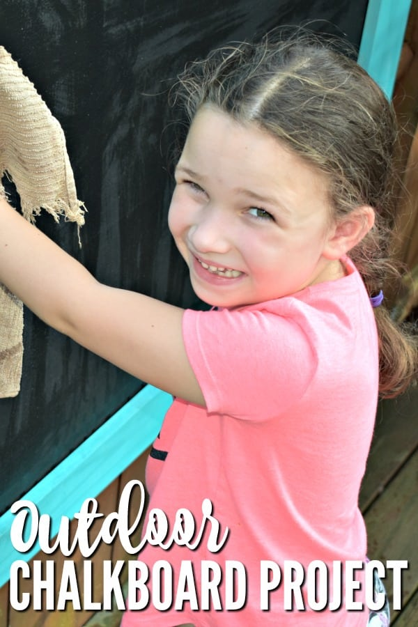 Outdoor Chalkboard Project #DIY #tutorial #outdoorliving