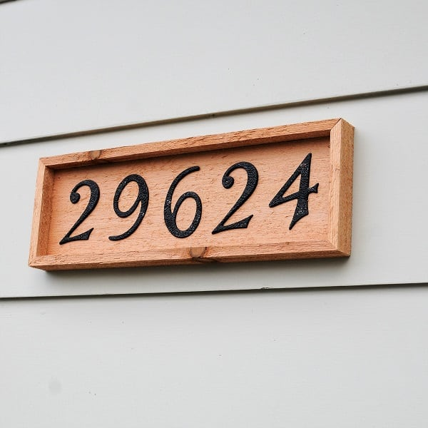 Rustic House Number Sign 1
