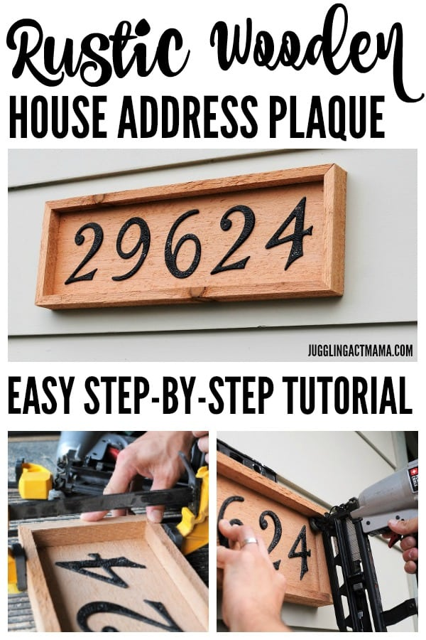 Rustic Wooden DIY Home Address Plaque Project