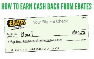 How to Get Cash Back with Ebates
