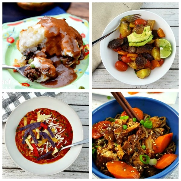 a collage of dinner recipes