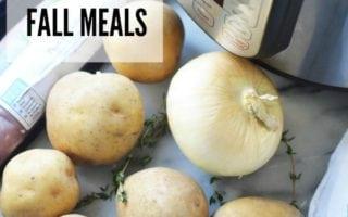 Fall Meals – Menu Planning