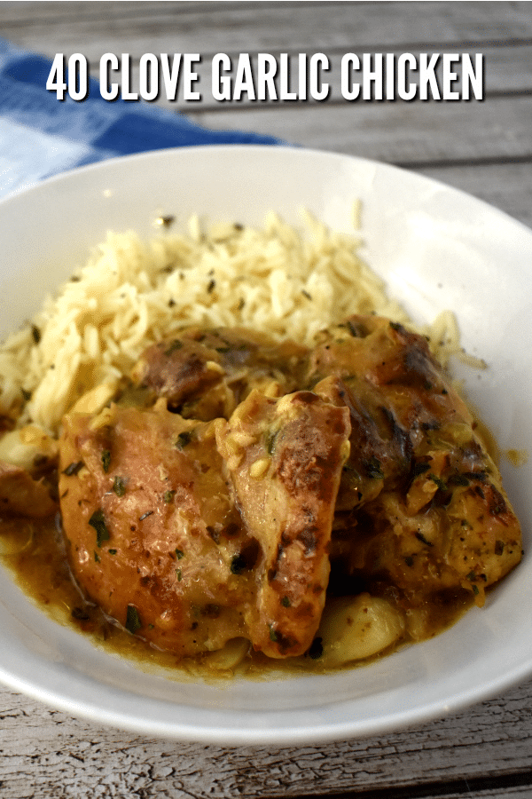 Tender moist chicken in a creamy garlic sauce is perfect for weeknight meals and entertaining alike.