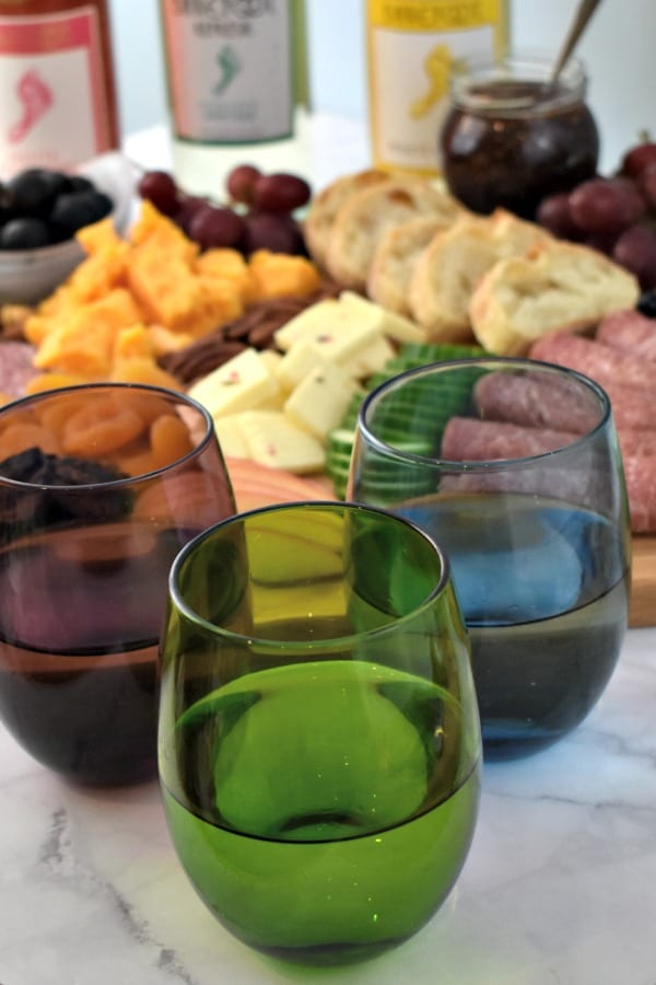 Barefoot Wine Compliments any Meat and Cheese Board
