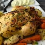 Delicious Roasted Chicken and Vegetables with Cowboy Butter