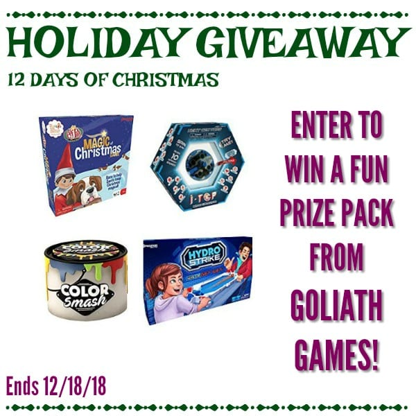 Enter to Win a prize pack from Goliath Games - 12 Days of Christmas