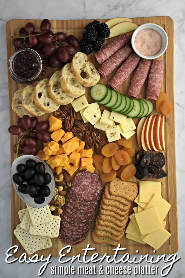 Last Minute Entertaining - Simple Meat and Cheese Platter