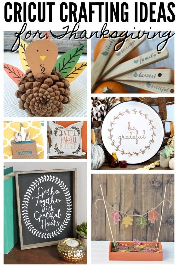 Creative Thanksgiving Craft Ideas using Cricut! via @jugglingactmama