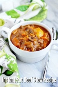 Amazing Instant Pot Beef Stew Recipe