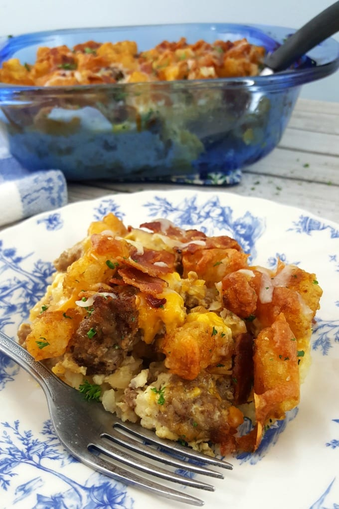 You're going to love this delicious and easy Tater Tot Breakfast Casserole Recipe