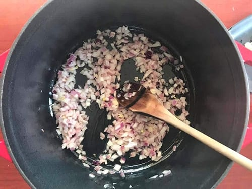 chopped onions mixed with oil - Vegan Chili Recipe