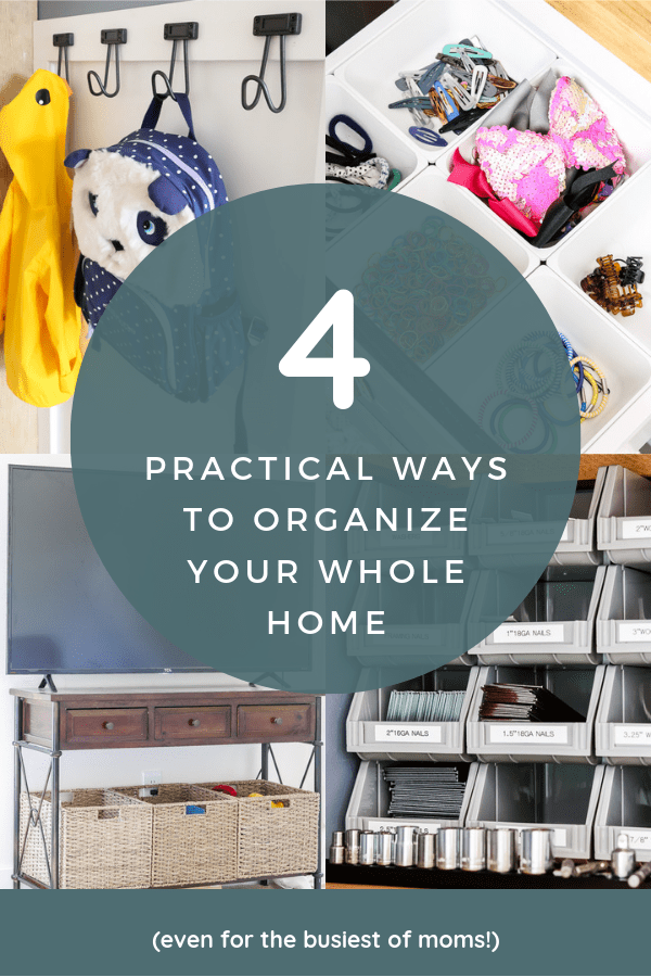 If you're a busy mom, make sure you check out these super practical tips for keeping an organized home #homeorganization #organizationtips